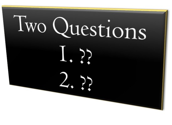 How Answering Two Questions Could Save Your Marriage